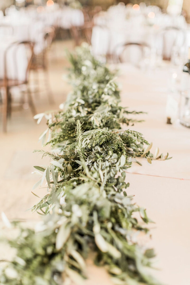 leafy table decorations